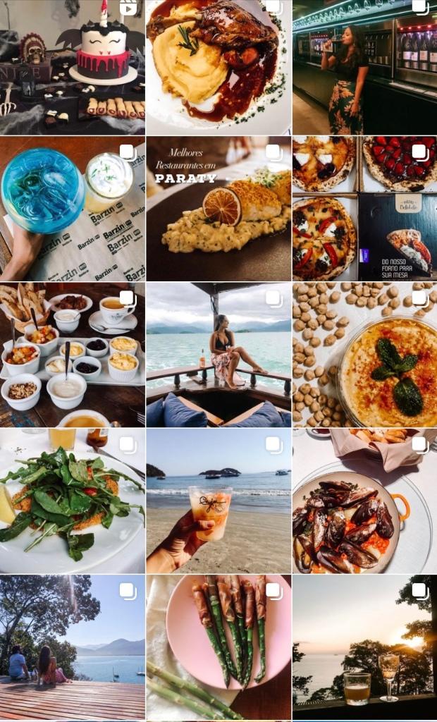 Perfil do instagram com dicas  gastronomicas de viagem